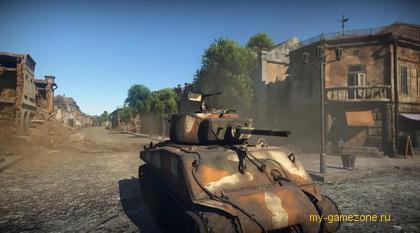 засада танка в городе