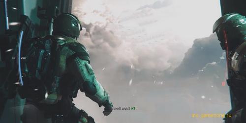 прыжок с самолета infinite warfare