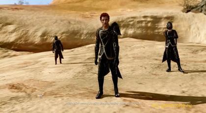 сцена с пустыни