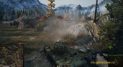 засада танка в лесу