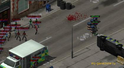 атака зараженных зомби
