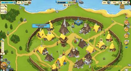 вид деревни галлов