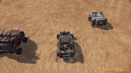 колонна машин перед боем