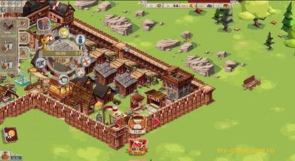 постройка крепости и сооружений