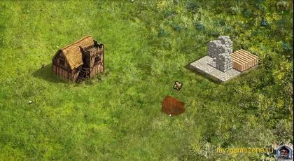 сооружение домов в Stronghold