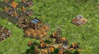 возведение деревни в лесу