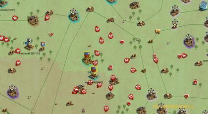 карта с построением войск