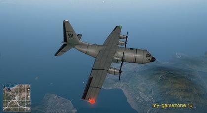 высадка на остров с самолета