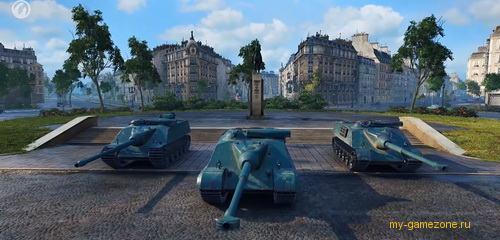 танки на площади