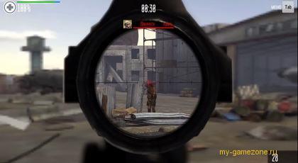 враг под прицелом снайперской винтовки