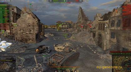 танковое сражение ВОТ