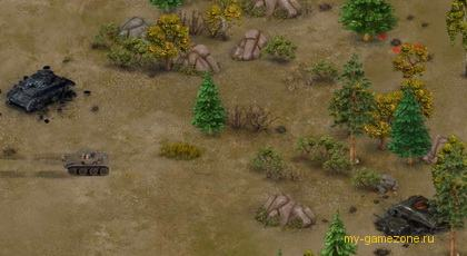засада танков в лесу