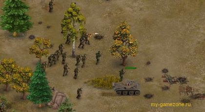 наступление солдат на пост