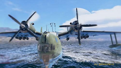 посадка самолета на воду