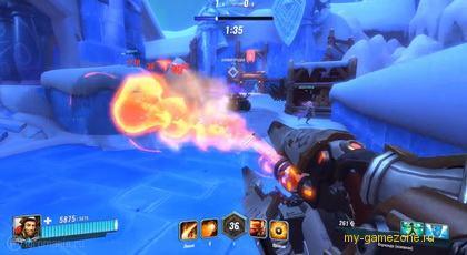 Огнемет в игре Paladins